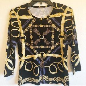 J. McLaughlin | Women's graphic 3/4 sleeve blouse